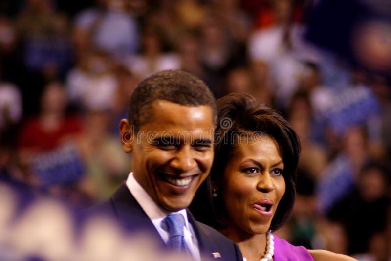 Obama объявляет победу в St Paul, MN стоковые изображения rf