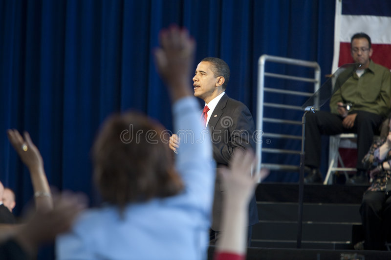 Obama Answers Questions stock photos