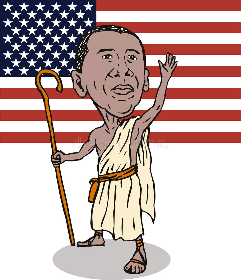 Download Obama As Redeemer With Flag Editorial Stock Image - Image: 7015509