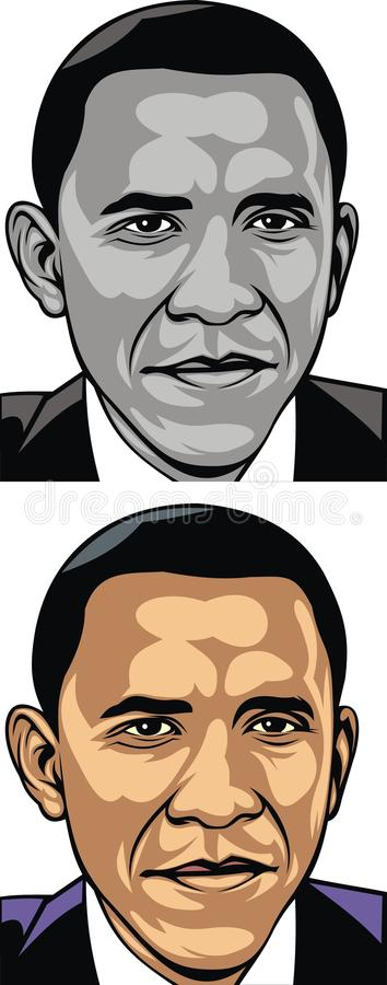 Download Obama caricature editorial photo. Image of american, intelligent - 30292171