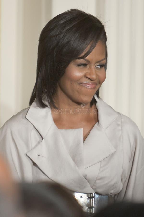 Obama de Micaela fotos de archivo