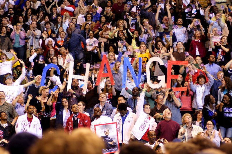 Obama Declares Victory In St. Paul, MN royalty free stock photography