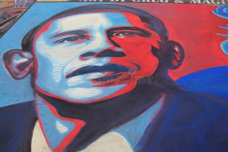 Obama in der Kreide lizenzfreie stockfotos