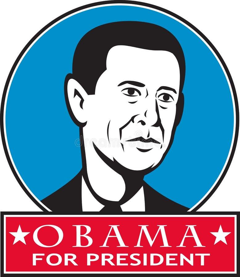 Obama Dla Amerykańskiego Prezydent ilustracji