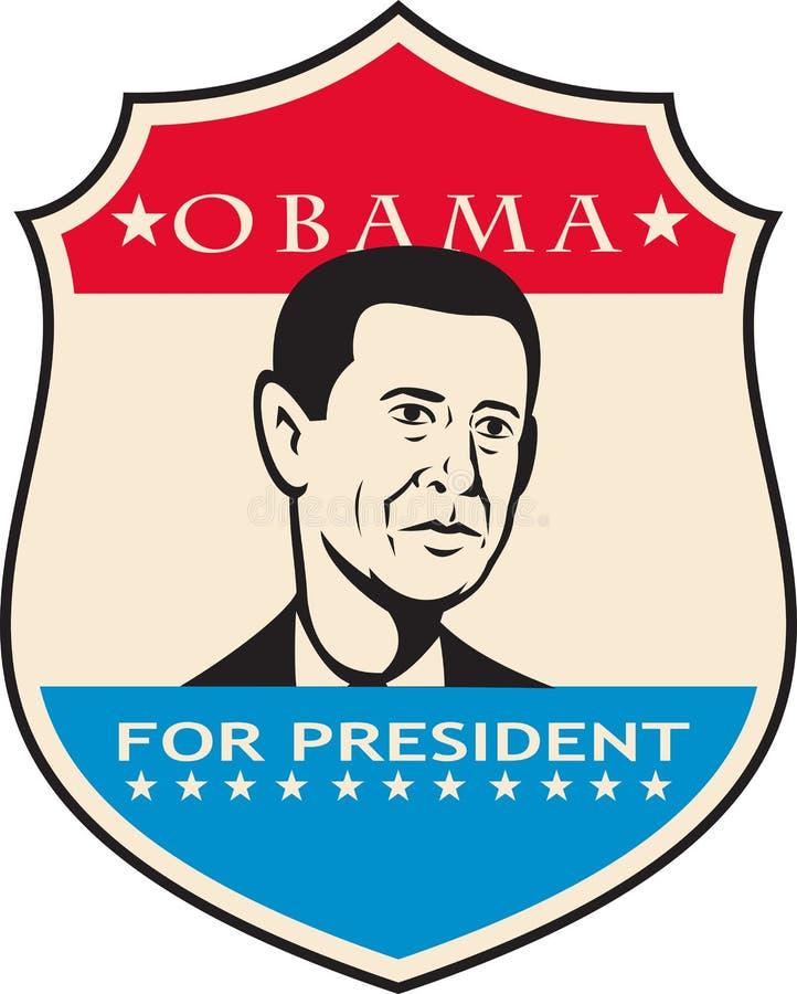 Obama Dla Amerykańskiego Prezydent Osłaniający ilustracja wektor