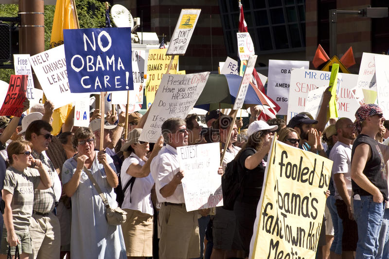 Download Obama Healthcare Demonstrators Protesters Editorial Stock Image - Image: 10566054