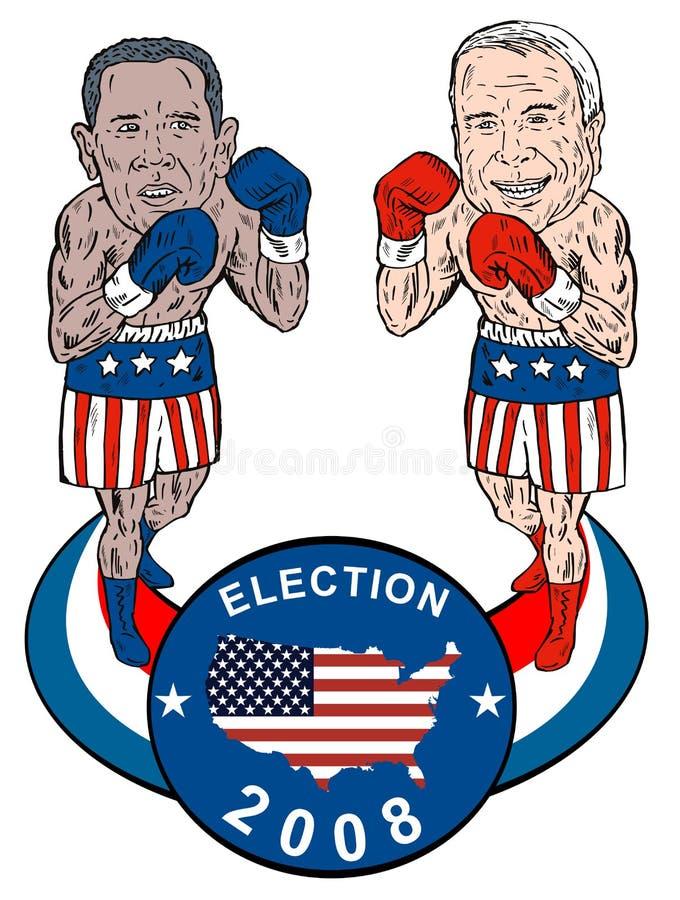 Obama mccain ilustracji