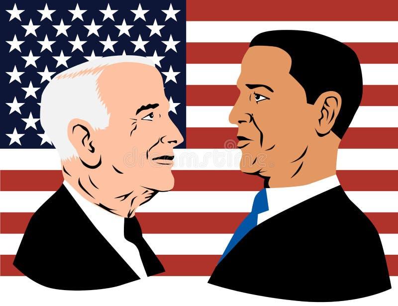 Obama mccain royalty ilustracja