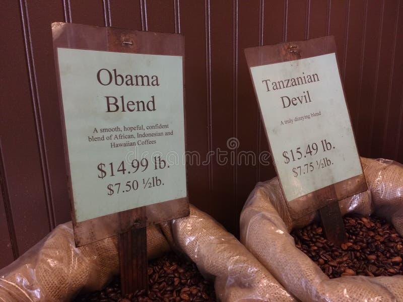 Obama mieszanki kawa fotografia stock