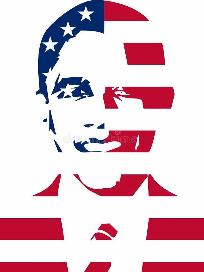 Obama para el presidente stock de ilustración