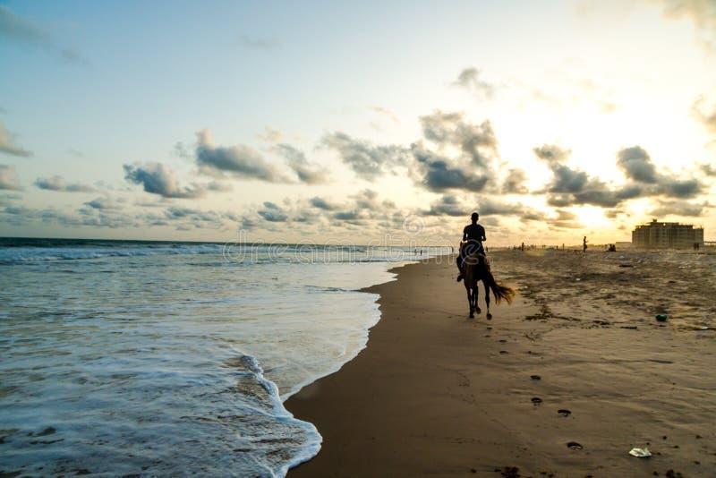 Obama plaża w Cotonou, Benin fotografia royalty free