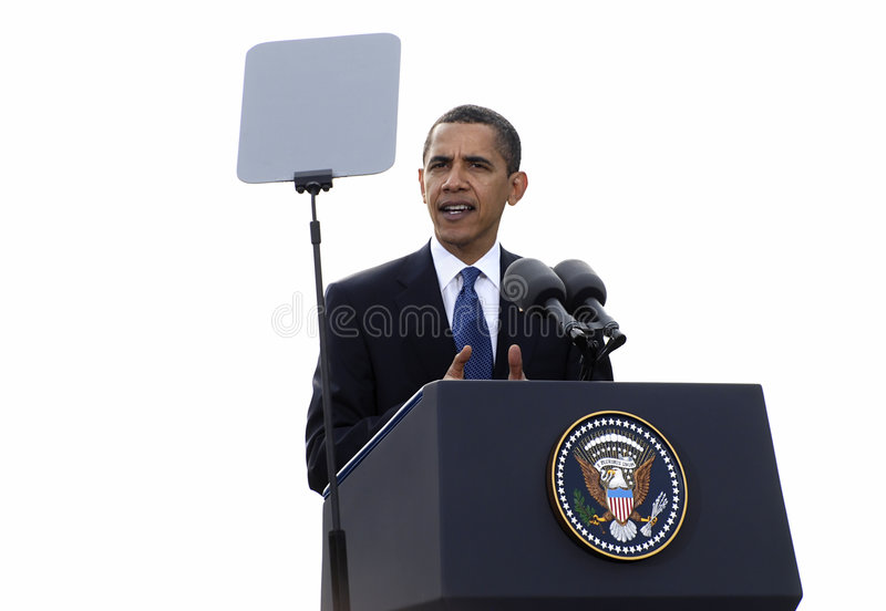 obama Prague prezydent zdjęcia royalty free