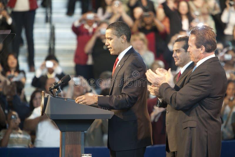 Obama Rathaus lizenzfreies stockbild