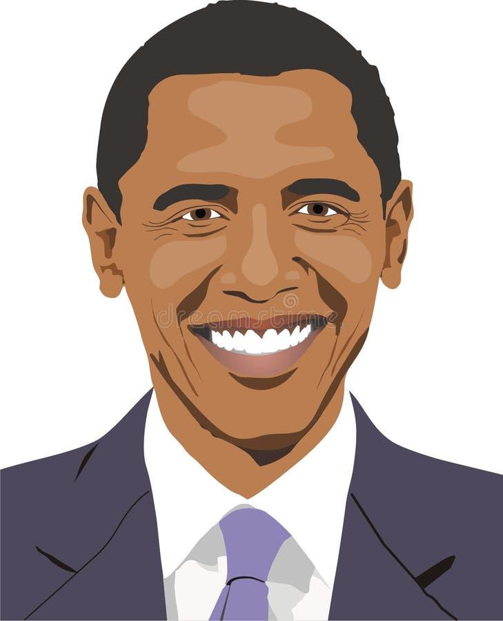 obama uśmiech s ilustracji