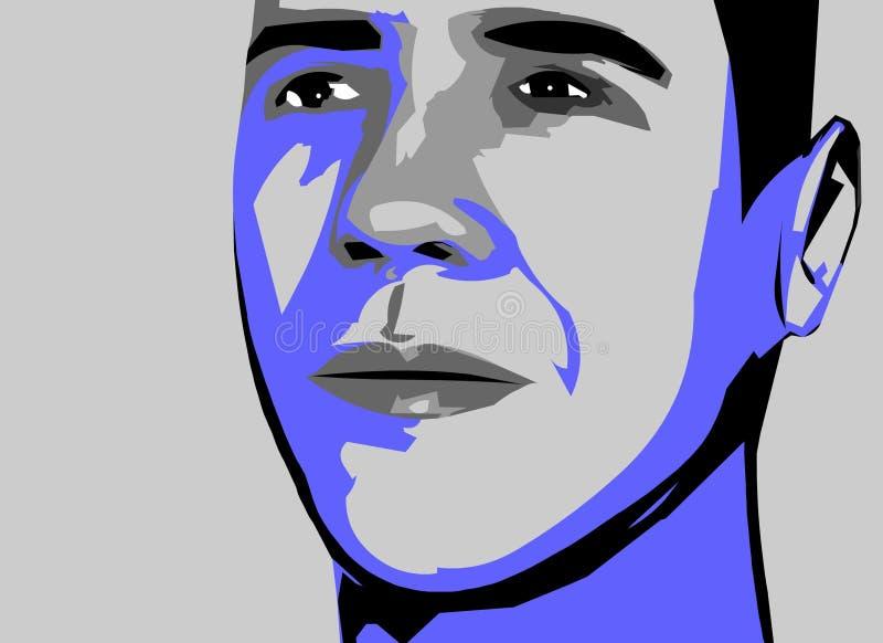 obama wektor royalty ilustracja