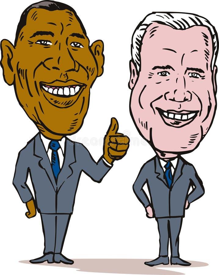 Obama y Biden ilustración del vector