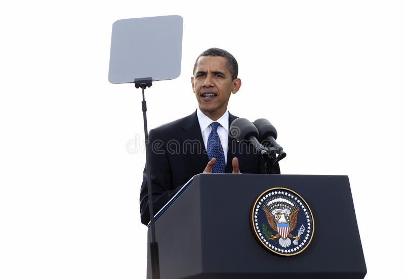 obamaprague president royaltyfria foton