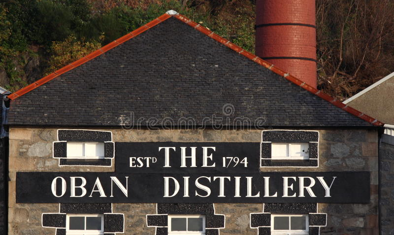 The Oban Distillery royalty free stock photos