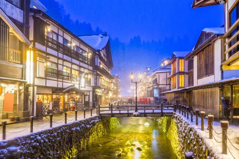 Obanazawa Gorących wiosen kurort, Japonia obrazy stock