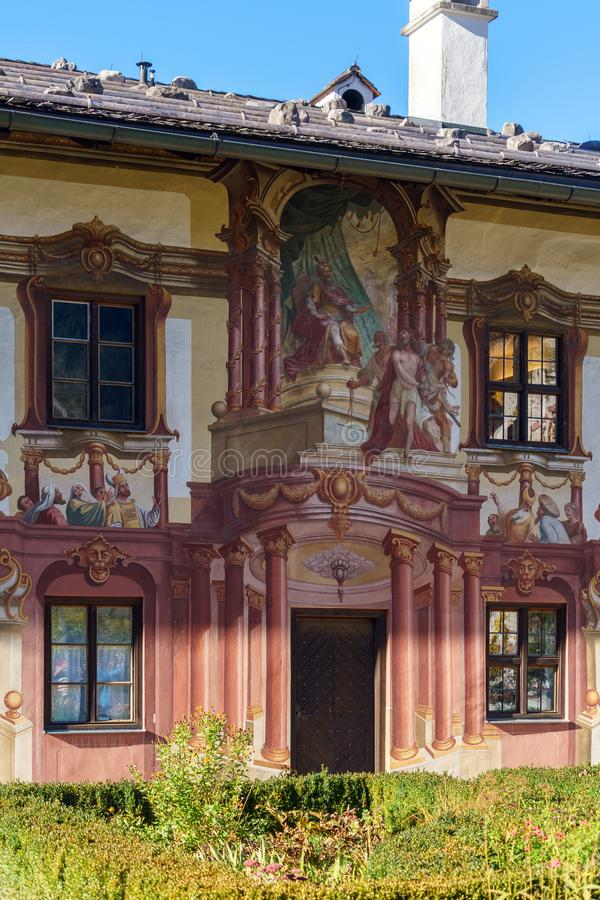 Obberamergau, Germany - October 15, 2017: House of Pilat with L royalty free stock image