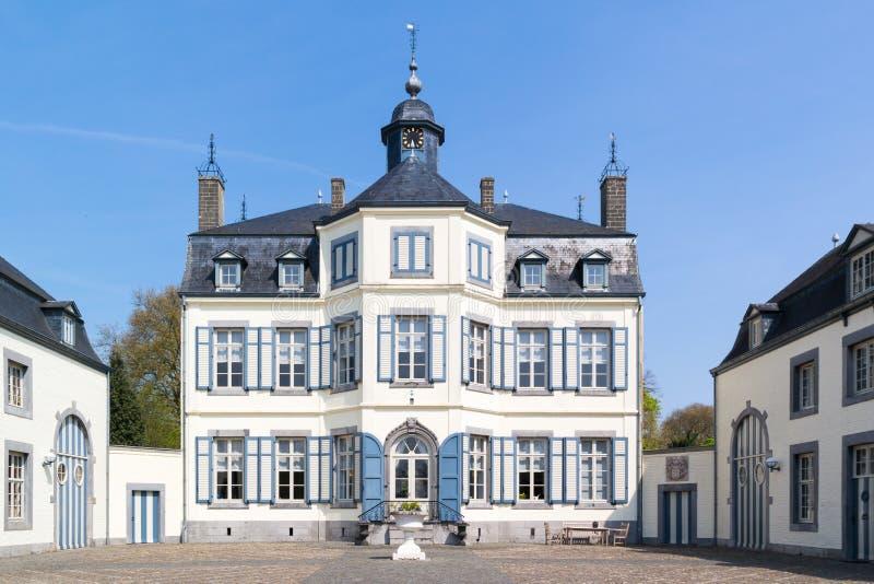 Obbicht slott i Sittard-Geleen, Limburg, Nederländerna royaltyfri foto