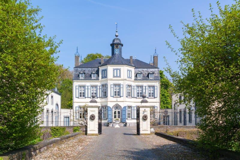 Obbicht slott i Sittard-Geleen, Limburg, Nederländerna arkivbilder
