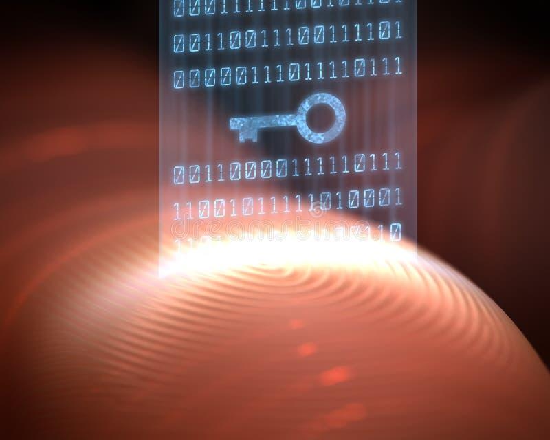 Obbligazione Digital dell'impronta digitale illustrazione vettoriale