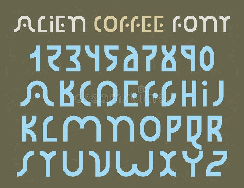Obca Kawowa chrzcielnica royalty ilustracja