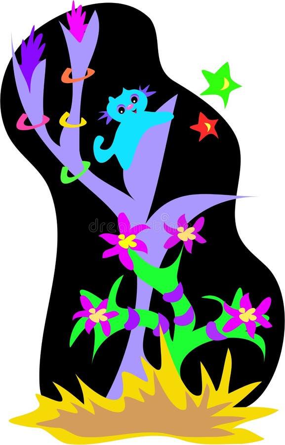 obce egzotyczne lasowe rośliny ilustracji