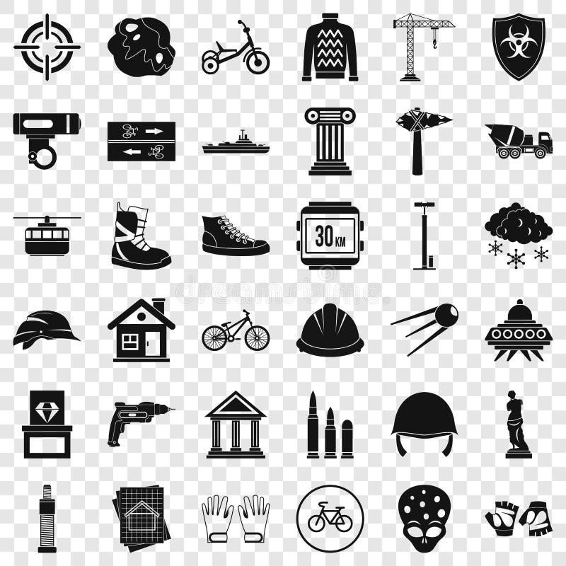 Obce ikony ustawia?, prosty styl ilustracja wektor