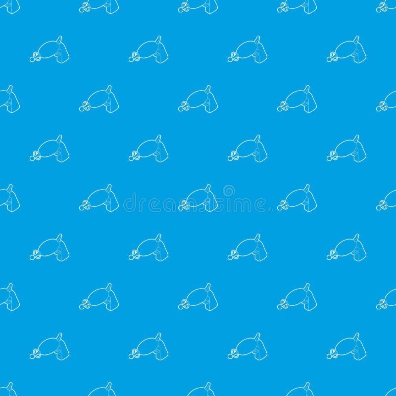 Obcego broni zabawki wzoru wektorowy bezszwowy błękit ilustracji