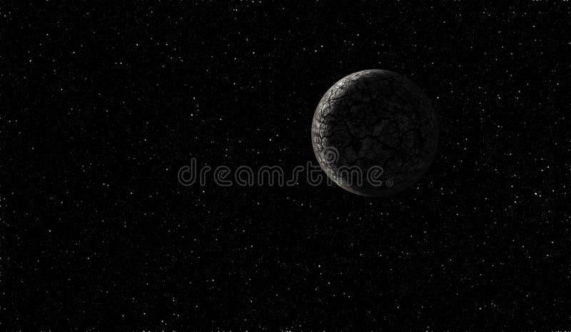 obcego głęboka planety przestrzeń ilustracja wektor