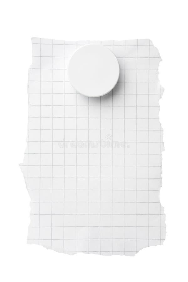 obciosujący magnesu papier obrazy stock