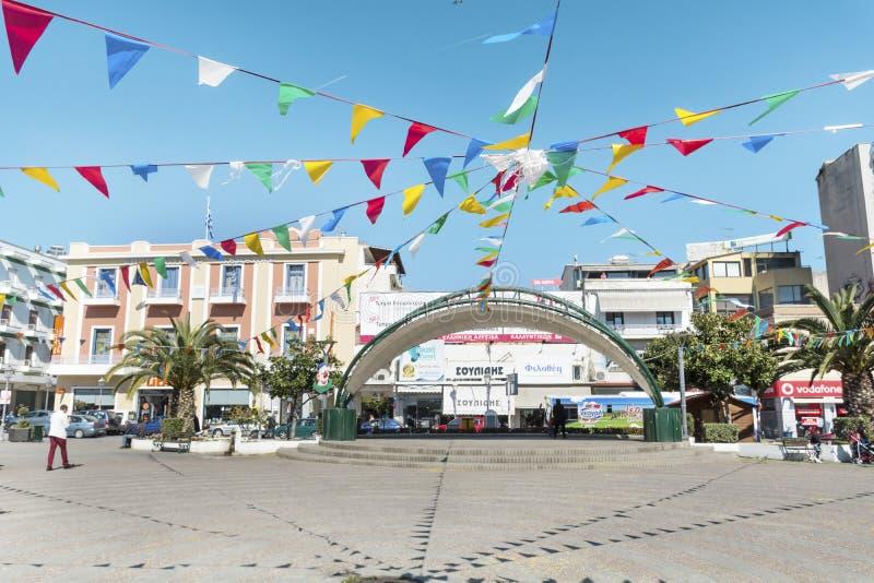 Obciosuje w centrum Kavala, Grecja obrazy stock