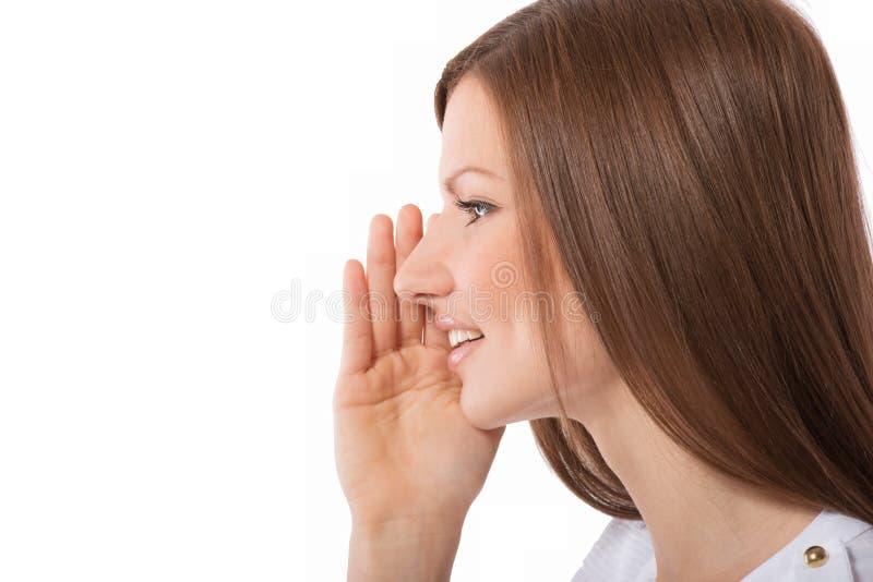 Obcojęzyczna młoda kobieta fotografia stock