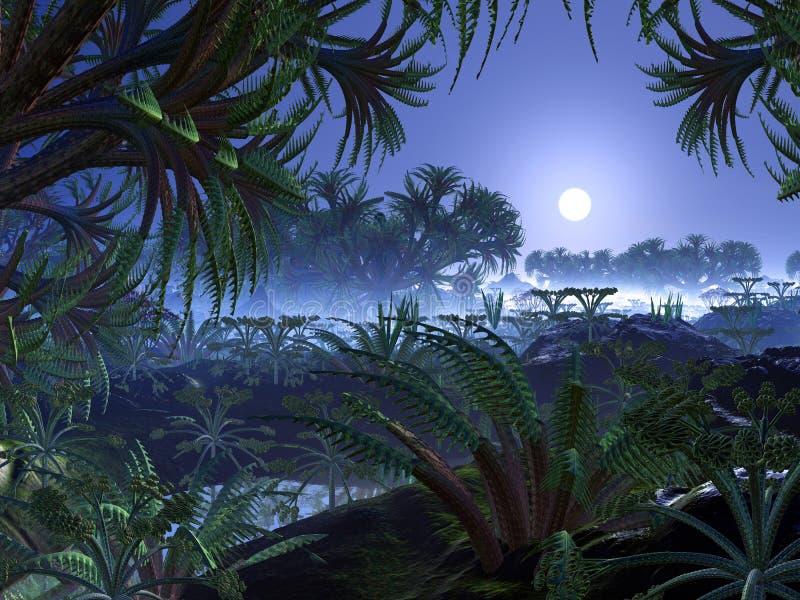 Obcy dżungla świat ilustracja wektor