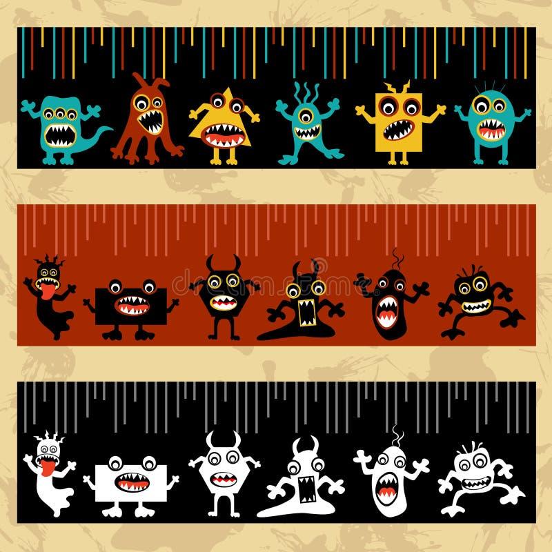 Obcy i potwór royalty ilustracja