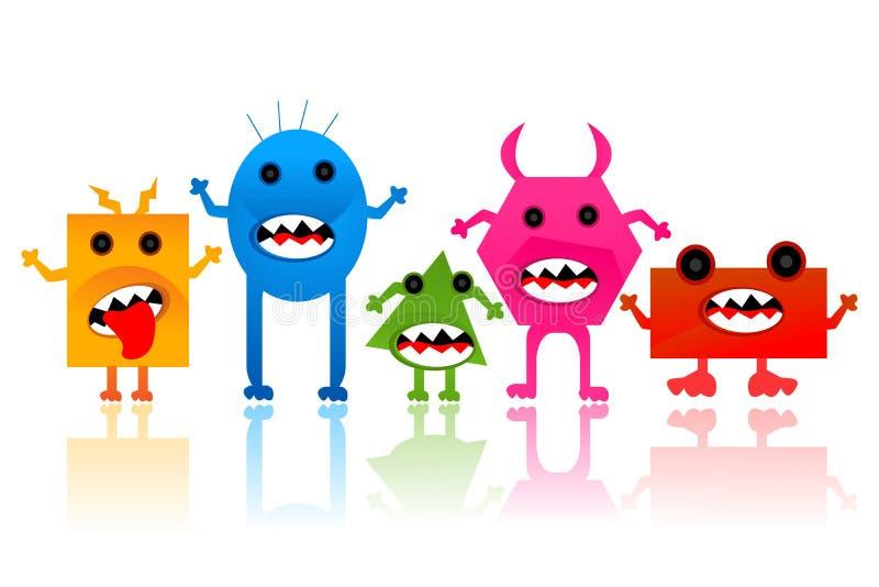 Obcy i potwór ilustracja wektor