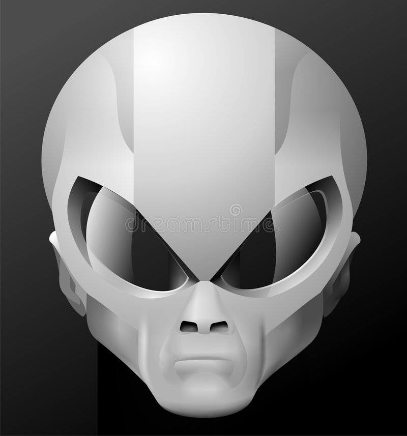 obcy maski pilot ilustracja wektor