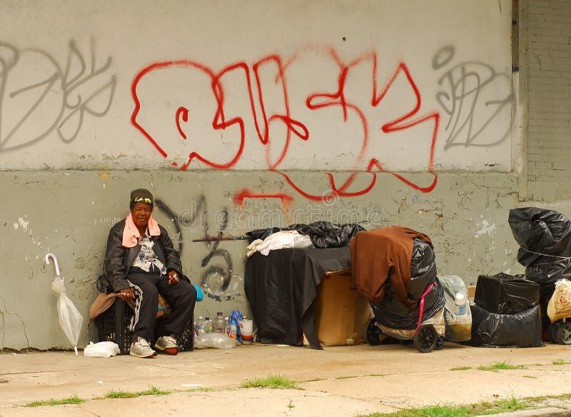 Obdachloser in Manhattan lizenzfreies stockbild