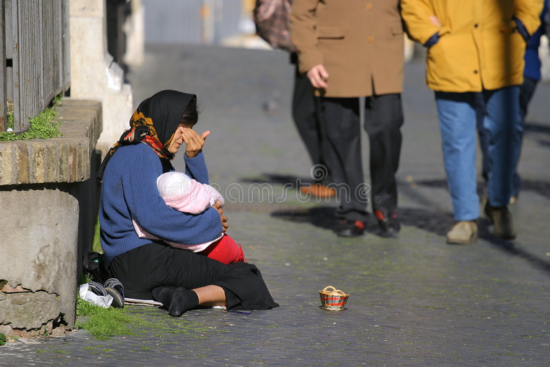 Obdachloser VII stockfotografie