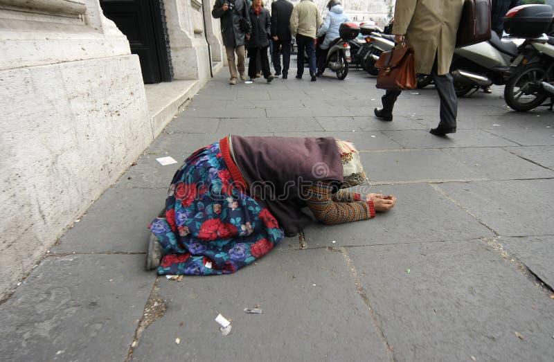 Obdachloser VIII stockfotos