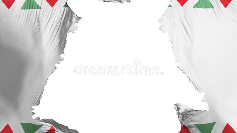 Obdarta Budapest flaga ilustracja wektor
