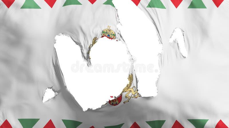 Obdarta Budapest flaga royalty ilustracja