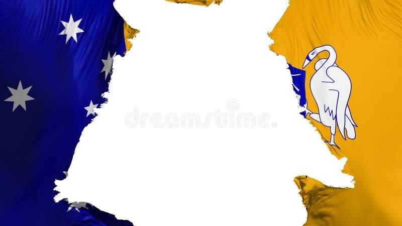 Obdarta Canberra flaga royalty ilustracja