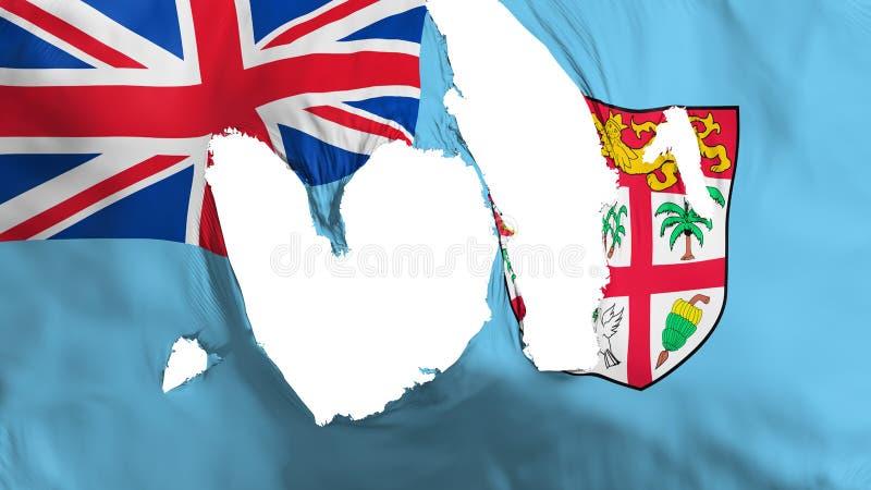 Obdarta Fiji flaga ilustracji