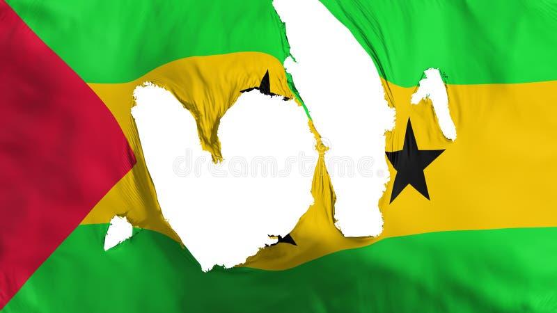 Obdarta Sao Principe i woluminu flaga ilustracji