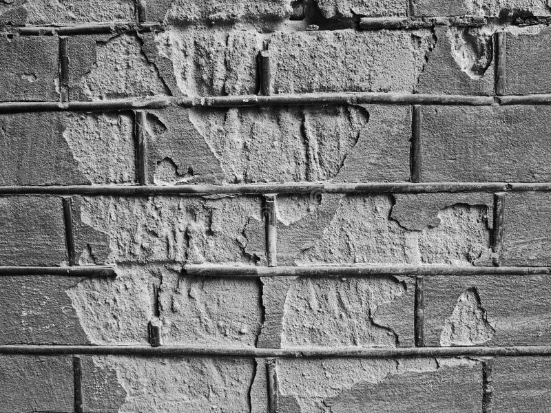 Obdrapana ceglana tekstura fotografia stock