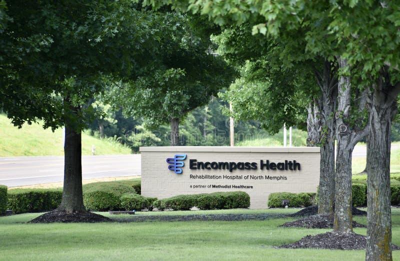 Obejmuje zdrowie i centrum rehabilitacji, Memphis, TN zdjęcie stock