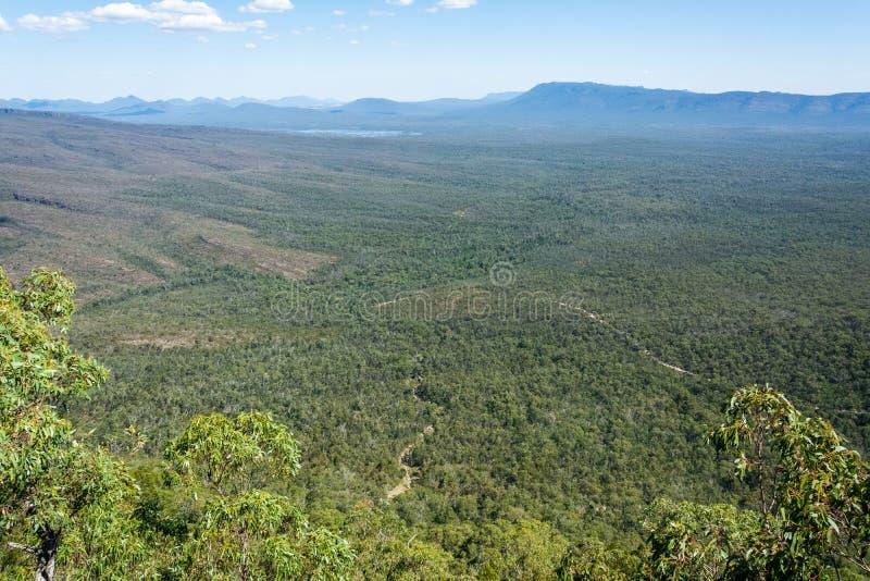 Obejrzyj Dolinę Wiktorii i Jezioro Warwańskie w regionie Grampians w Wiktorii, Australia zdjęcie stock